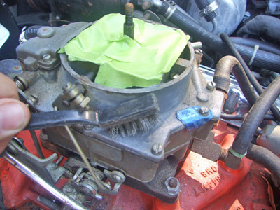 Clean the carburetor from top to bottom
