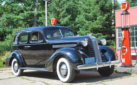 This summer you will have more fun with an old car, like this '36 Pontiac, if you take some basic steps to maximize its operating efficiency to save gas.
