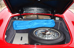 The roomy trunk has ample room for luggage as well as stowing the full-sized spare.