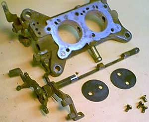 Disassembled throttle Plate assembly.