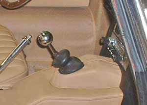 The gearshift cowl afer it was installed.