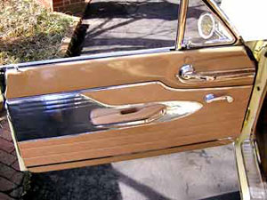 The driver's side door panel.