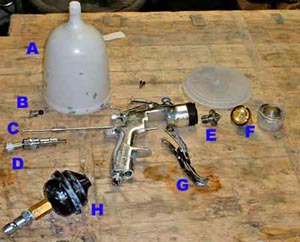 Dissassembled Spray Gun