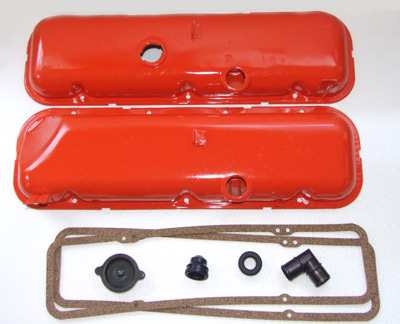 Here are the finished valve covers ready to be re-installed in my big block coupe. A nice new oil filler cap, breather elbow, rubber grommets and cork valve covers from Paragon Reproductions will add the finishing touches and make the installation look as good as it did when the '67 left the factory forty-one years ago!</P>