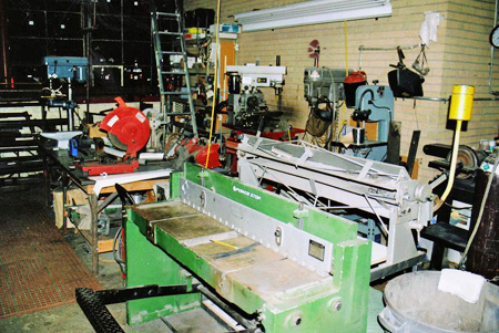 Bennett Coachworks in Milwaukee, Wis., uses an assortment of vintage and new metal fabrication tools.