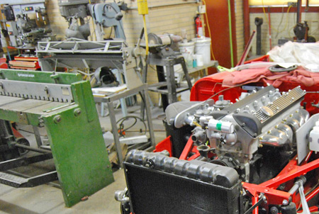Bennett Coachworks in Milwaukee, Wis., uses sheet metal tools to shape parts for Ferraris and other cars.