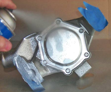 silver paint for chevy waterpump