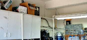 I looked around on the net and found a couple of examples of home made paint booths. From these, I came up with a plan.