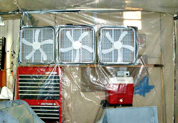 fans mounted with filters