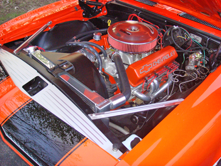 Black Engine Bay With Painted Car