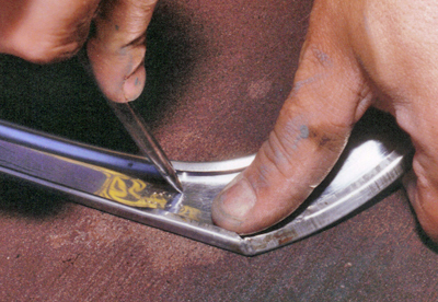Gently Push On The Dents To Return Them Their Original Shape